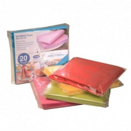 Servilleta Tissue Multicolor 2h 33x33 (Retail)