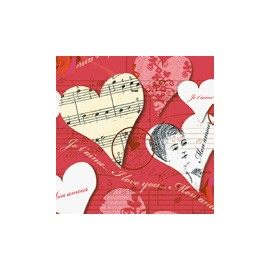 Servilleta tissue 33x33 design Amore