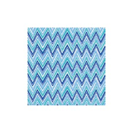 Servilleta tissue 33x33 design Zig Zag Stripes Blue