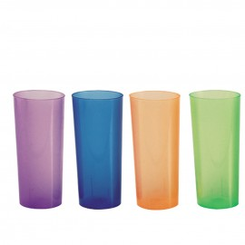 Vaso trago largo flexible 250 cc PP Azul