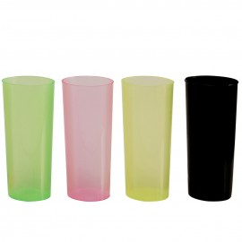 Vaso trago largo flexible 250 cc PP Negro