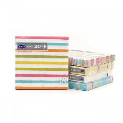 Servilleta tissue 33x33 design Lina Stripes