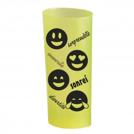Trago largo flexible amarillo impreso Emoticons Negro