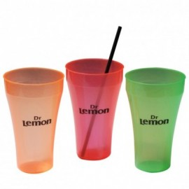 Vaso New Big flexible rojo claro fluor