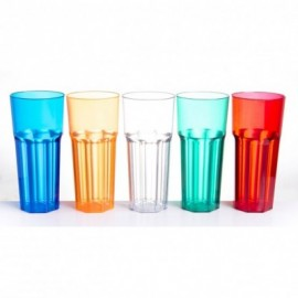 Vaso SLIM facetado 330 cc PS  Azul